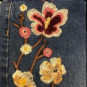 Avenue Embroidered Skinny Jeans 20W